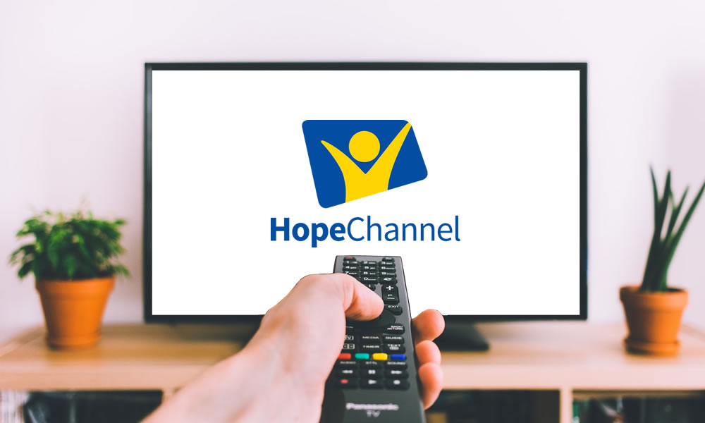 tv screen showing hope channel logo
